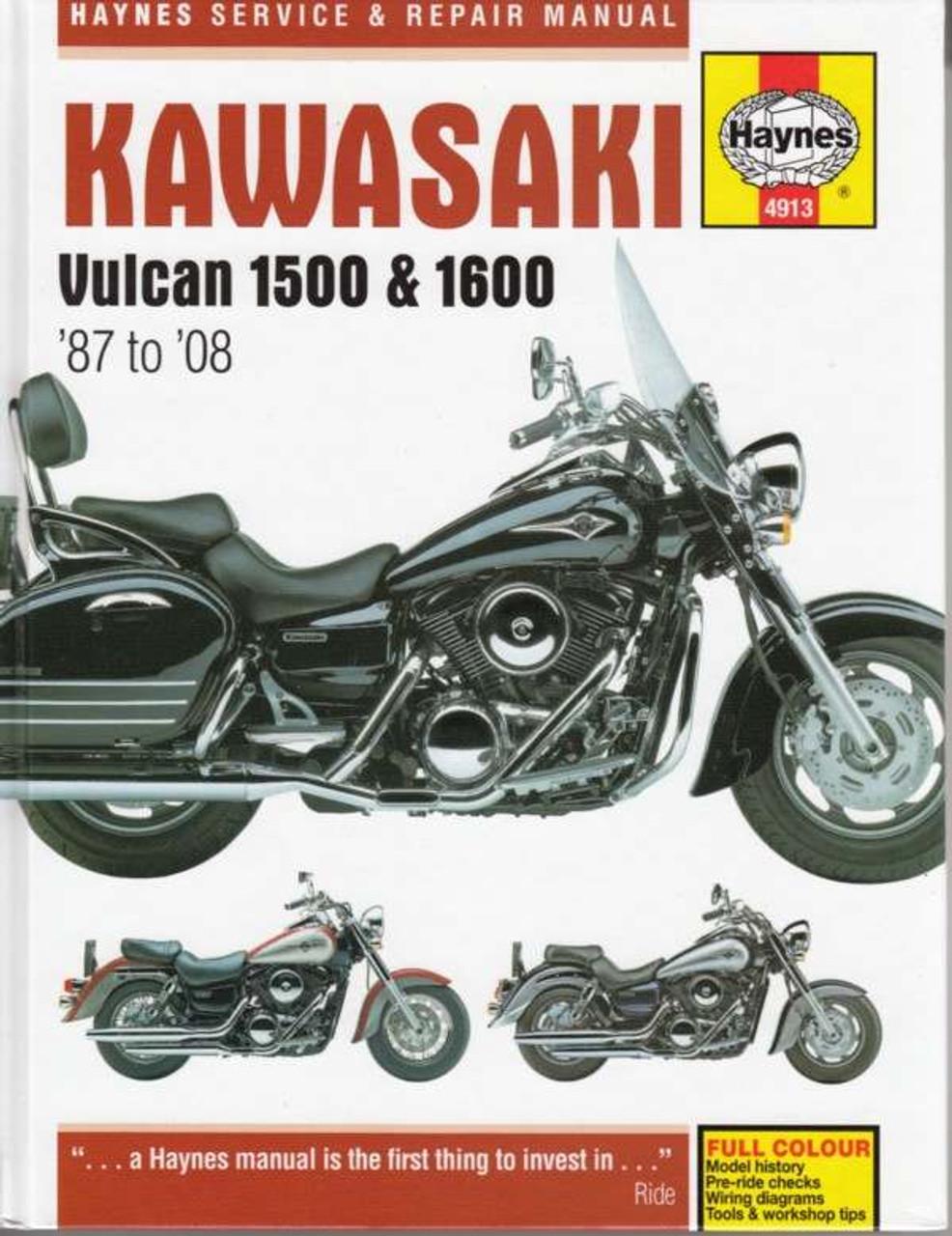 kawasaki vulcan 1500 1600 1987 2008 workshop manual rh automotobookshop com au haynes manual kawasaki versys 650 haynes manuals kawasaki 750cc sidexside 2008