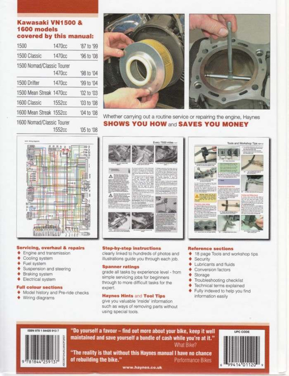 Kawasaki Vulcan 1500 1600 1987 2008 Workshop Manualrhautomotobookshopau: 1996 Kawasaki Vulcan 1500 Wiring Diagram At Gmaili.net
