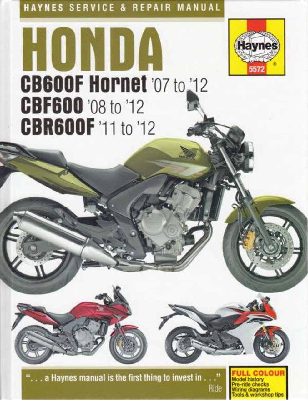 Honda Cb600f Hornet  Cbf600  U0026 Cbr600f 2007
