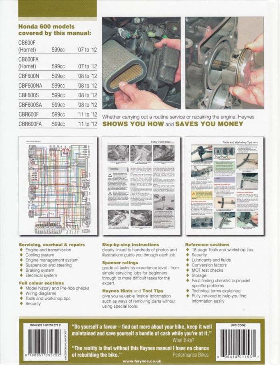 honda cb600f hornet cbf600 cbr600f 2007 2012 workshop manual rh automotobookshop com au honda hornet 2004 wiring diagram honda hornet 160r wiring diagram
