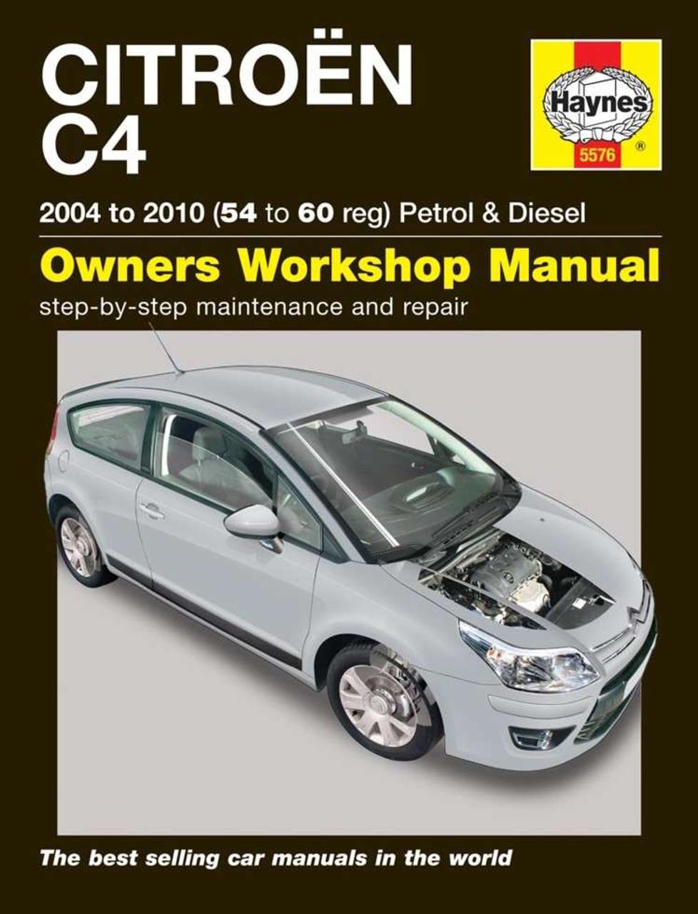 citroen c4 petrol diesel 2004 2010 workshop manual rh automotobookshop com au New Citroen C4 Citroen C4 Diesel