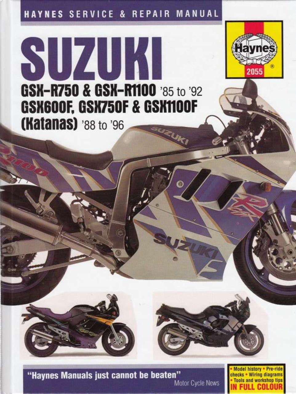 suzuki gsx r gsx f katanas 1988 1996 workshop manual rh automotobookshop com au 1992 suzuki gsx600f service manual 2003 suzuki gsx600f service manual