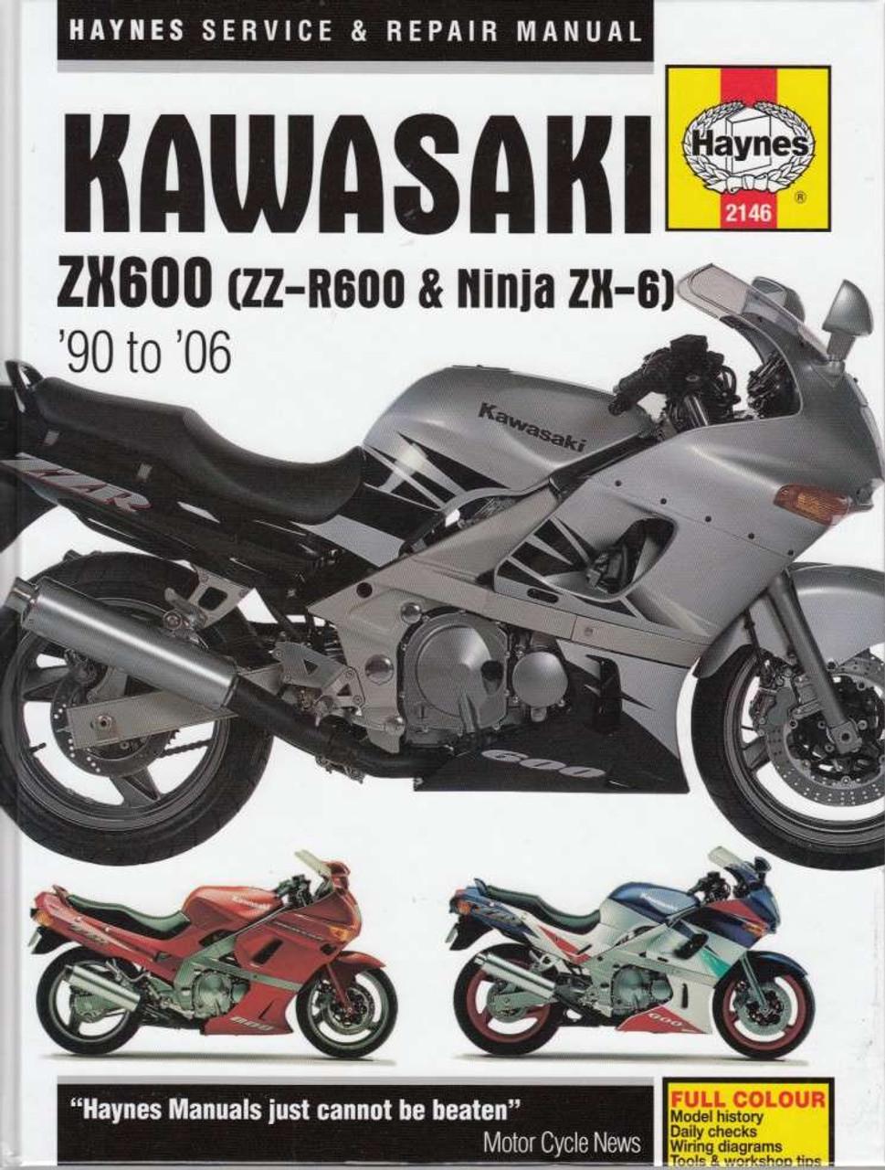 kawasaki zx600 zz r600 ninja zx 6 1990 2006 workshop manual rh automotobookshop com au zzr600 wiring diagram