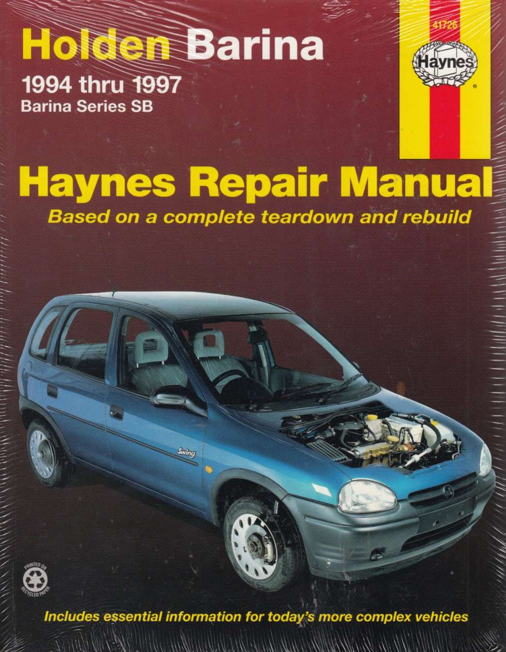 holden barina series sb 1994 1997 workshop manual rh automotobookshop com au Holden Barina Icon Holden Barina Crash