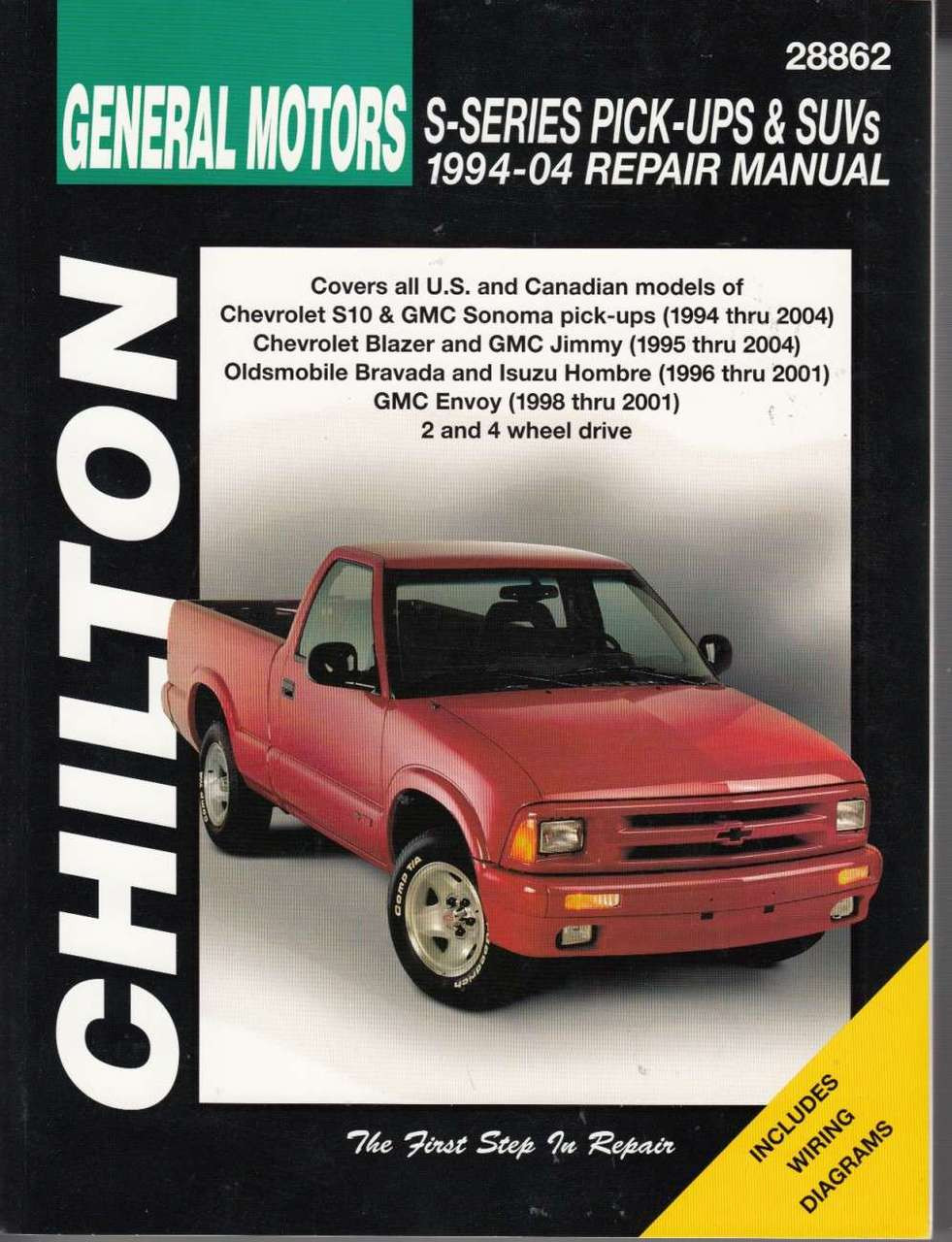 gm chevrolet s series pick ups suvs 1994 2004 chilton workshop rh automotobookshop com au 2003 Chevrolet S10 De Medidas 1997 Chevrolet S10