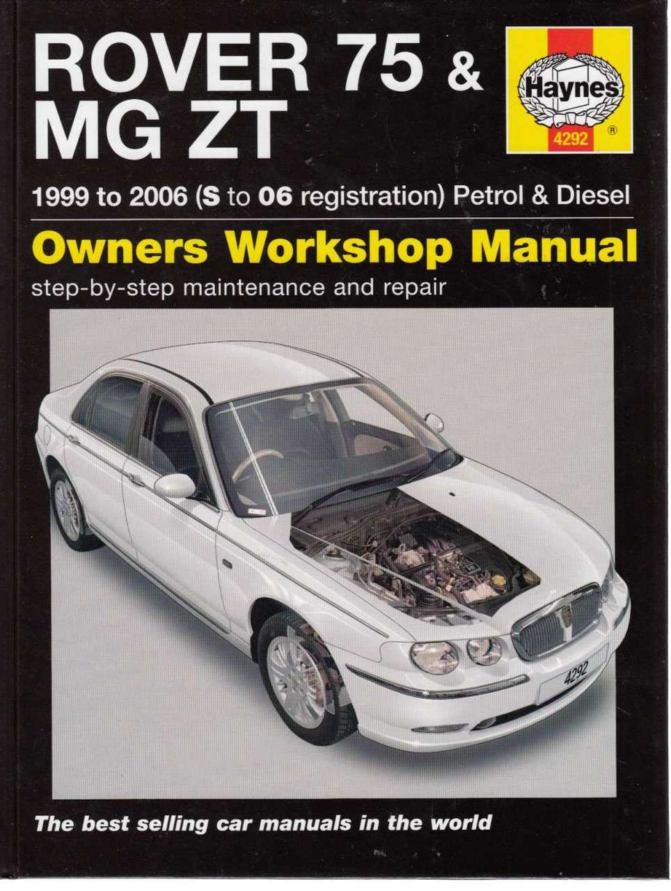 rover 75 mg zt petrol diesel 1999 2006 workshop manual rh automotobookshop com au MG ZS mg zr 160 haynes manual