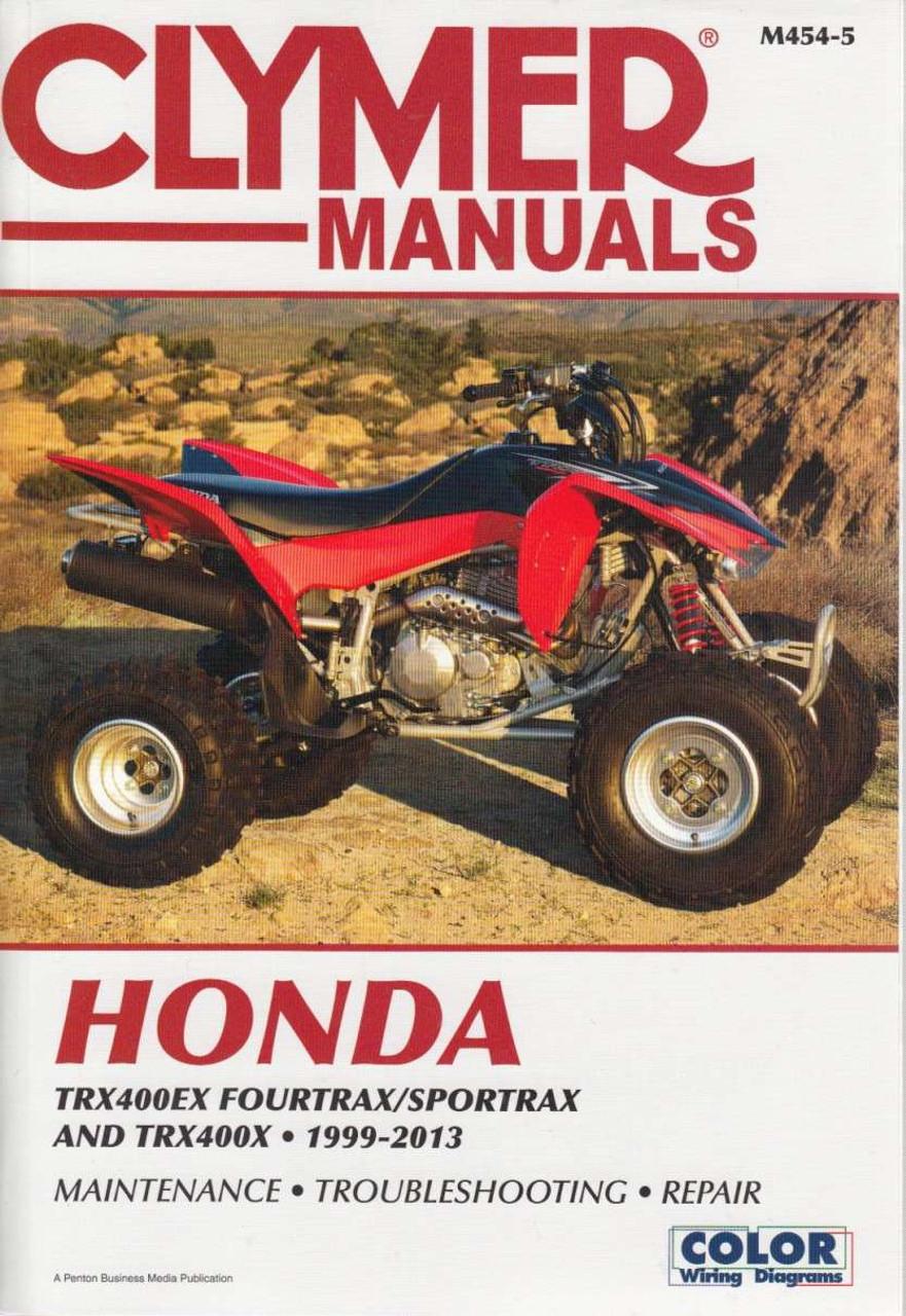 Honda TRXEX Fourtrax, Sportrax and TRX400X 1999 - 2013 Workshop Manual ...
