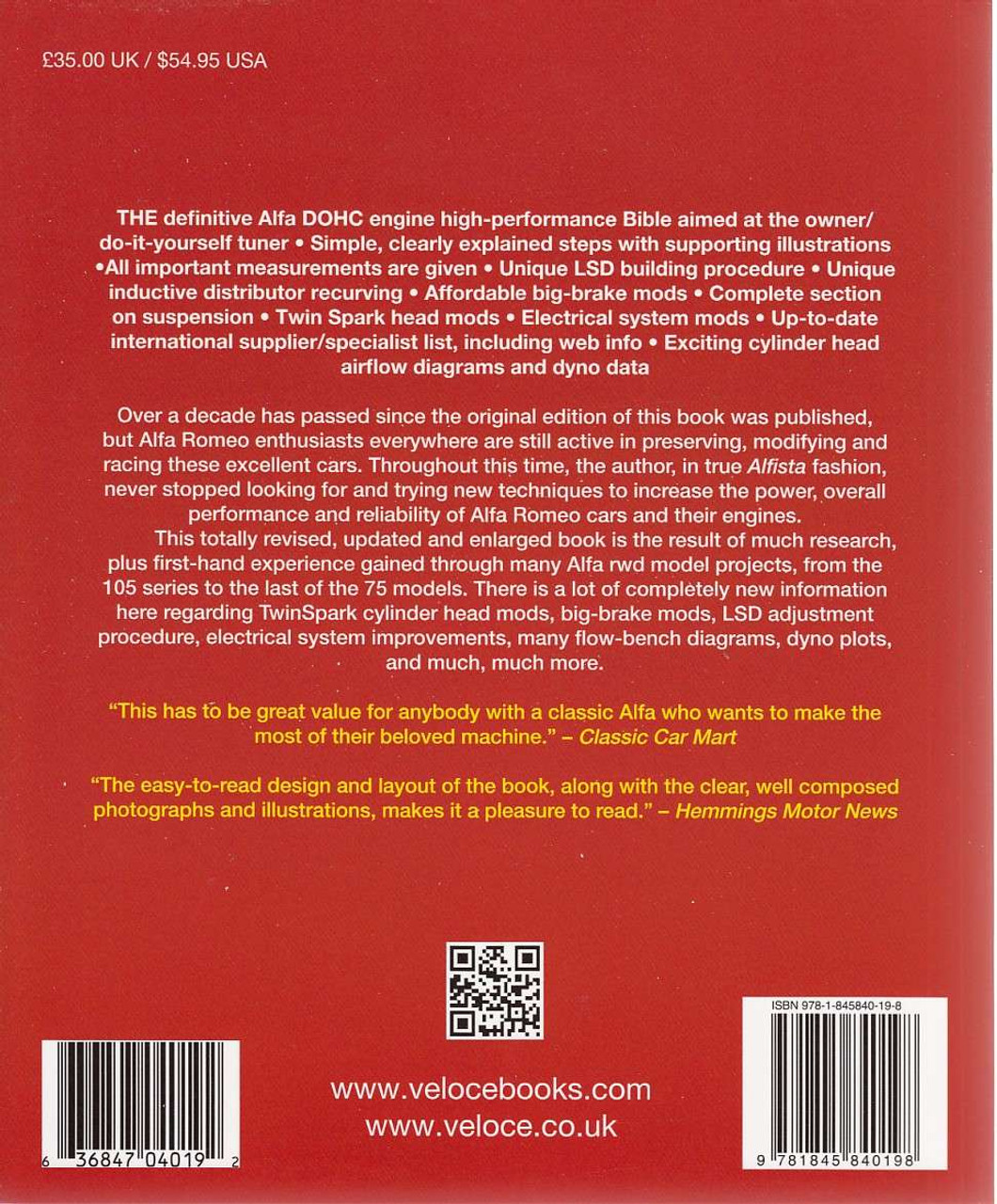 ... The Alfa Romeo DOHC Engine High-Performance Manual Back Cover