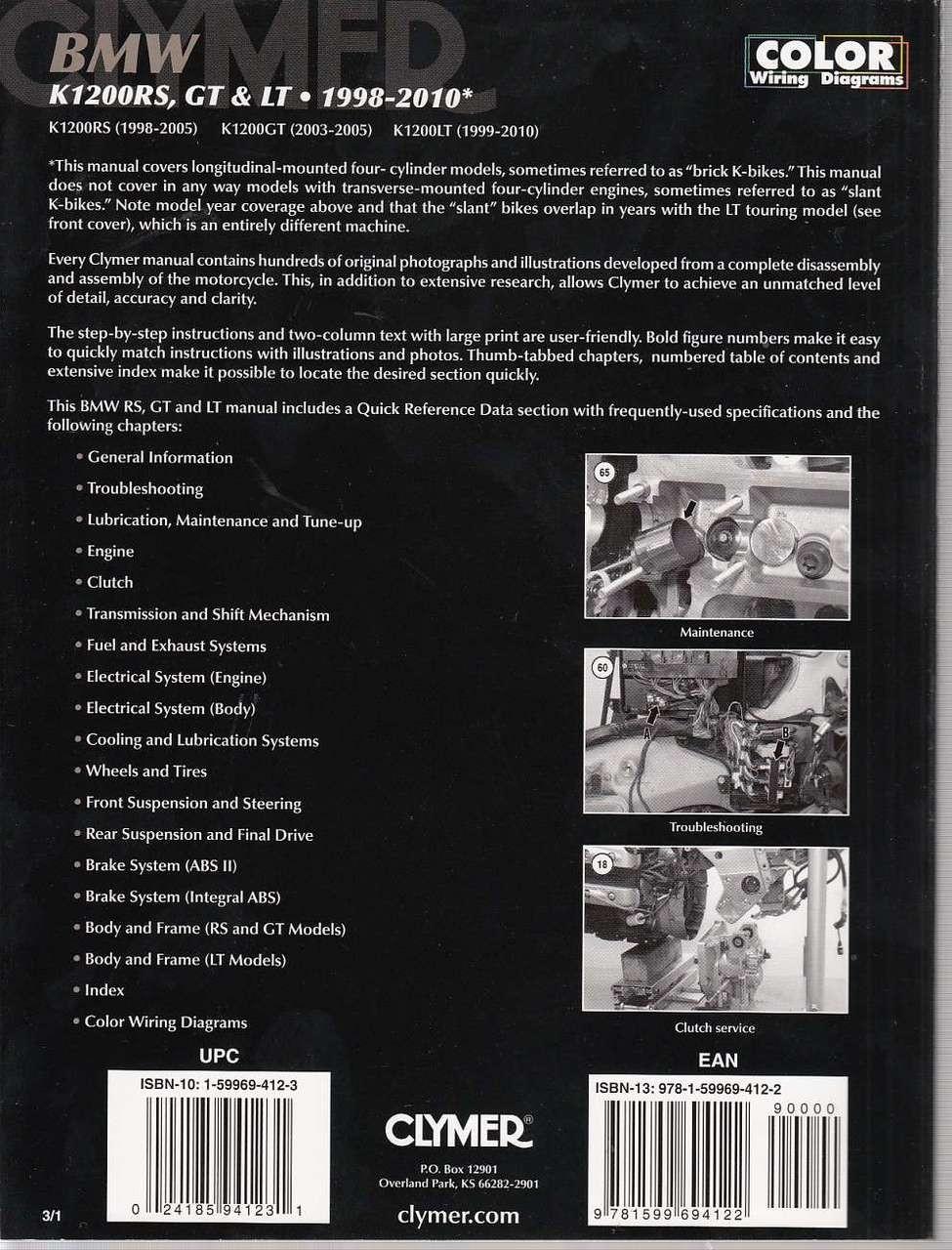 Bmw K 1200 Gt Wiring Diagram Libraries Motorcycle Librarybmw K1200rs K1200gt And K1200lt 1998 2010 Workshop