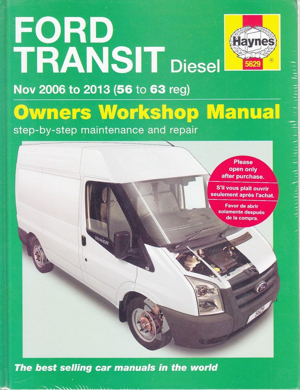 ford transit diesel 2006 2013 workshop manual rh automotobookshop com au Ford Tourneo 9 Passenger Ford Tourneo Interior