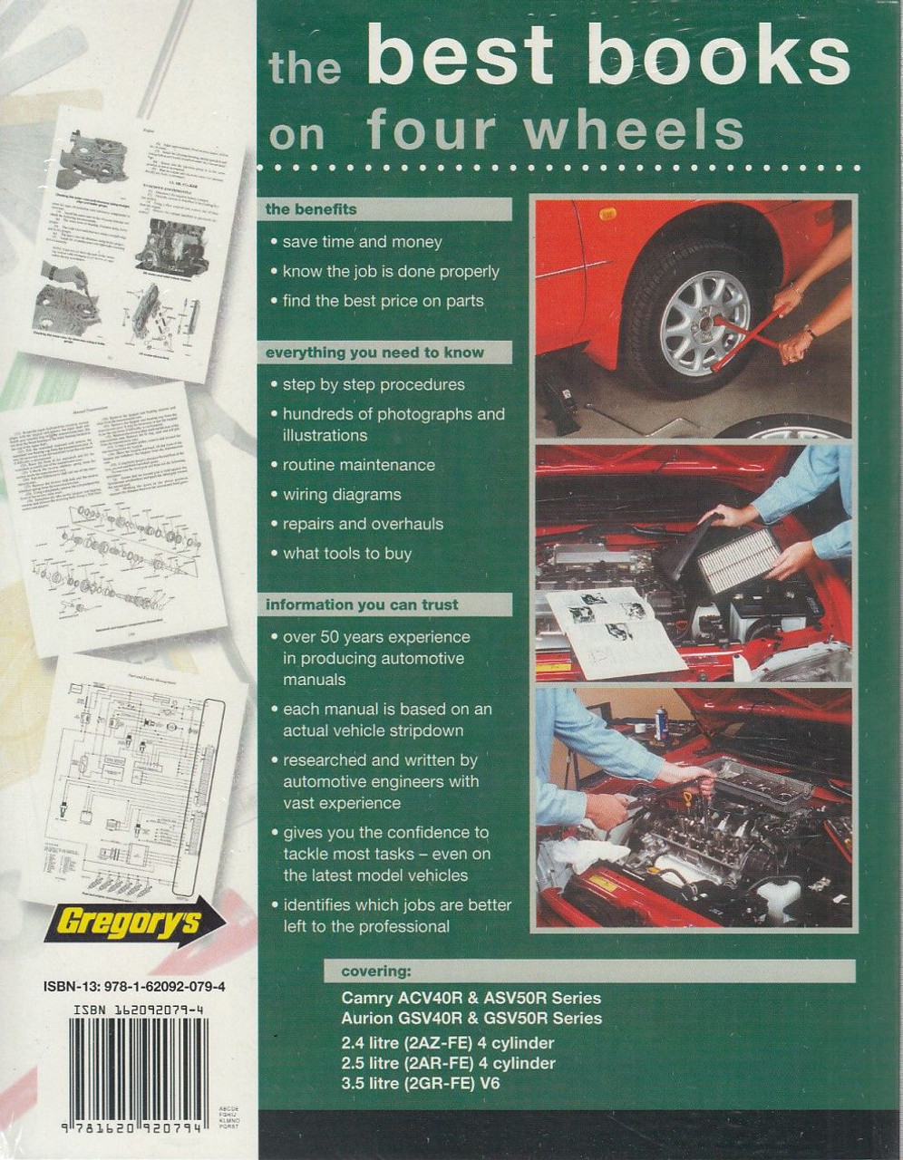 Toyota Camry 24 25 Litre Aurion 35 V6 2006 2013 1992 Electrical Wiring Diagram Guide Handbook Manual Back Cover