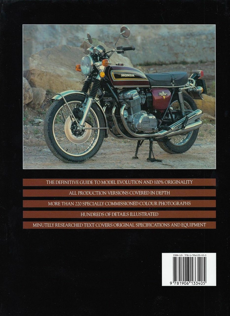 Original Honda Cb750 The Restorers Guide To K And F Series 750 Sohc 1970 Cb750f Back Cover