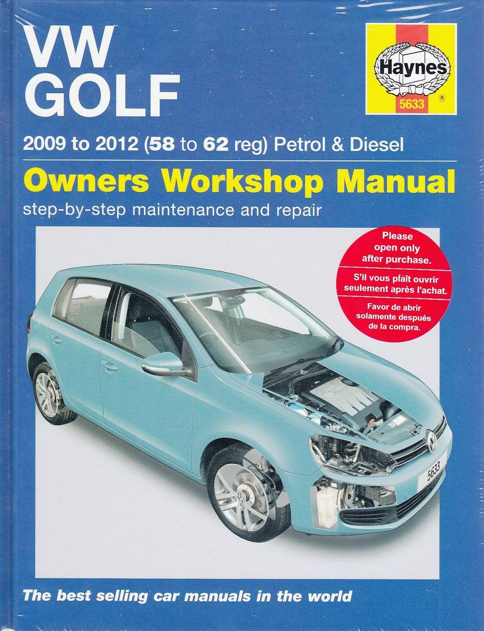vw golf 2009 2012 petrol diesel repair manual rh automotobookshop com au 1996 VW GTI VR6 1996 VW GTI VR6