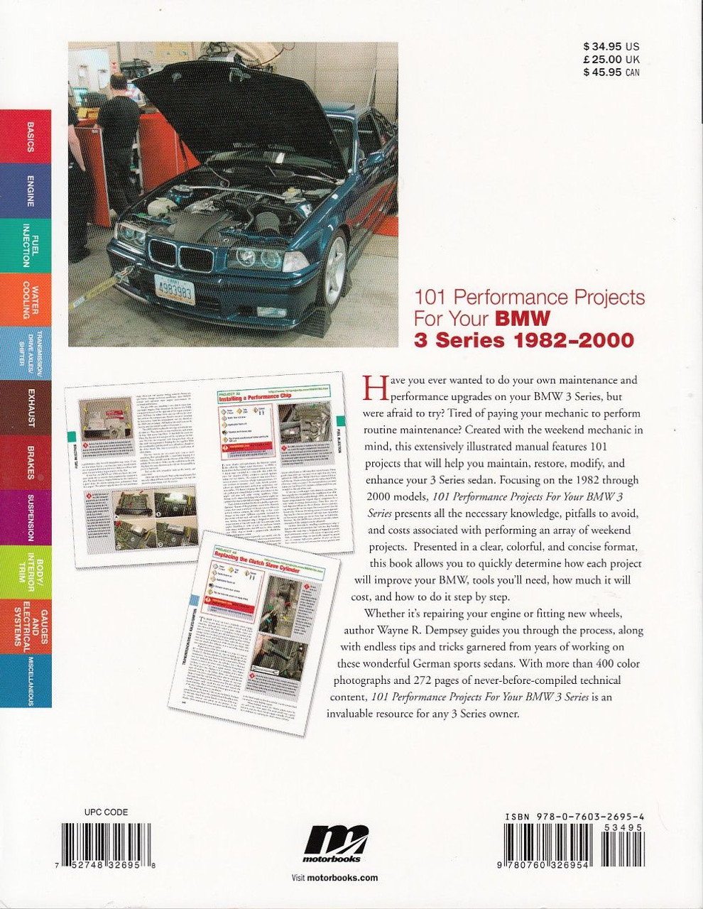 ... 101 Performance Projects for Your BMW 3 Series 1982-2000 Back Cover ...