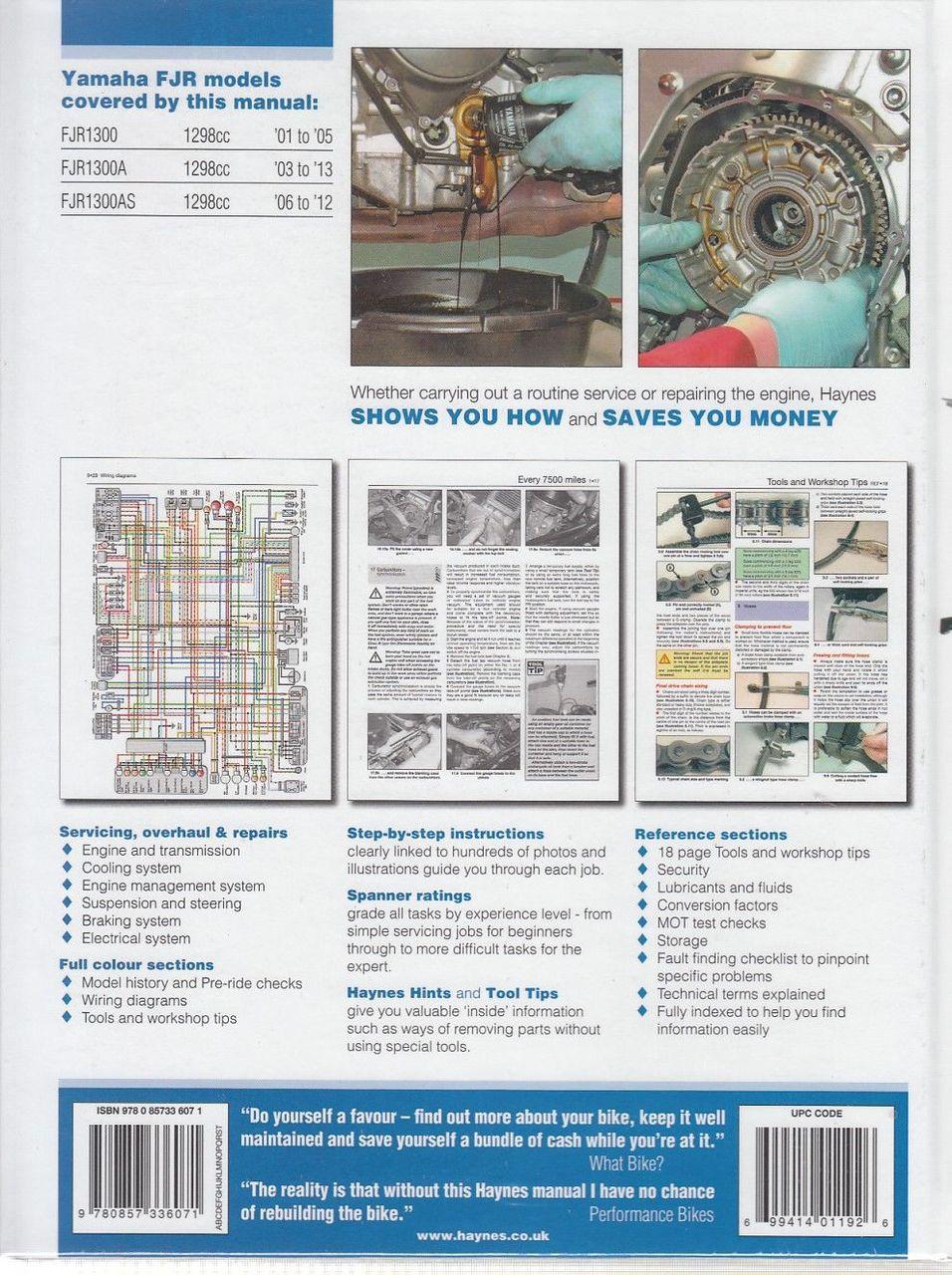 yamaha fjr1300 fjr1300a fjr1300as 1298cc 2001 2013 workshop manual rh automotobookshop com au Basic Electrical Wiring