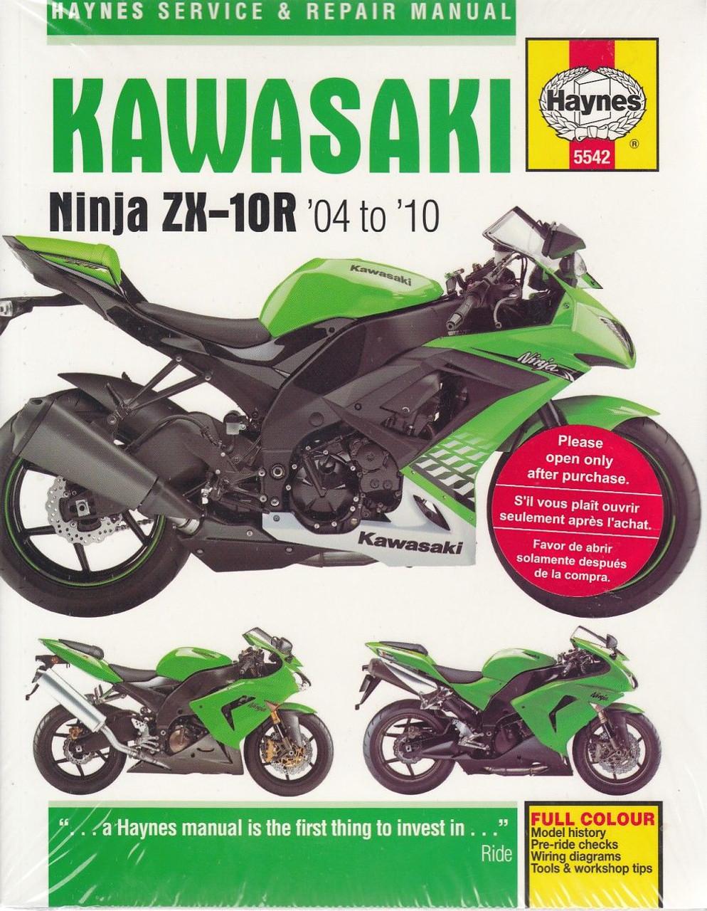 2006 Ex500 Wiring Diagram Library Kawasaki Diagrams Ninja Zx 10r 2004 2010 Workshop Manual Rh Automotobookshop Com Au Zx10r
