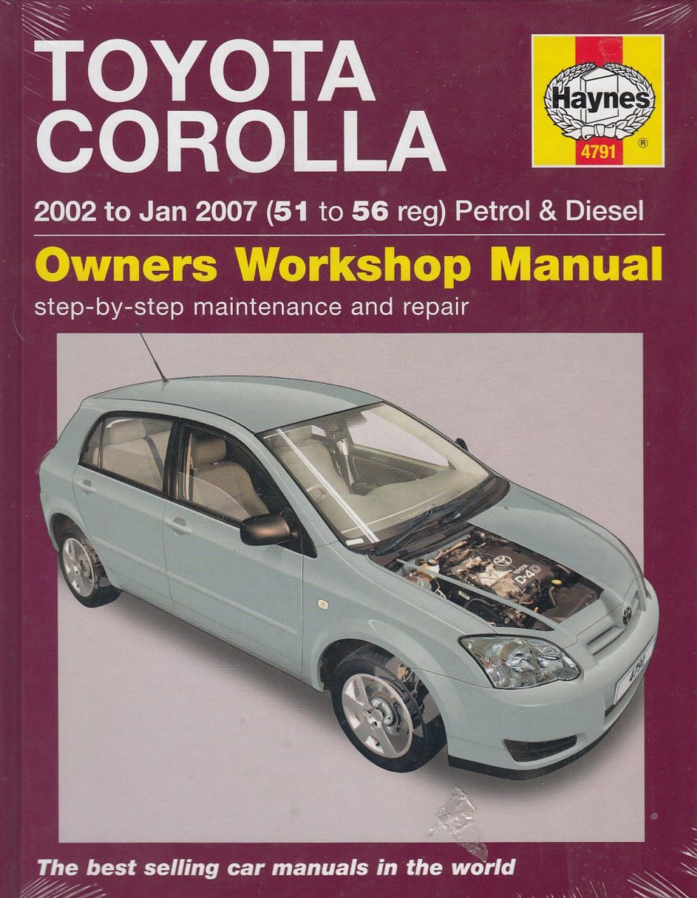 toyota corolla petrol 1 4 1 6 diesel 2 0 litre 2002 2008 rh automotobookshop com au Toyota Yaris IA Manual Transmission Toyota Yaris Manual