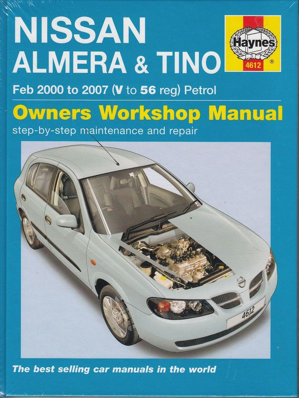 nissan almera tino 1 5 1 8 litre petrol 2000 2007 workshop manual rh automotobookshop com au Auto Repair Manuals Online Haynes Repair Manuals Mazda
