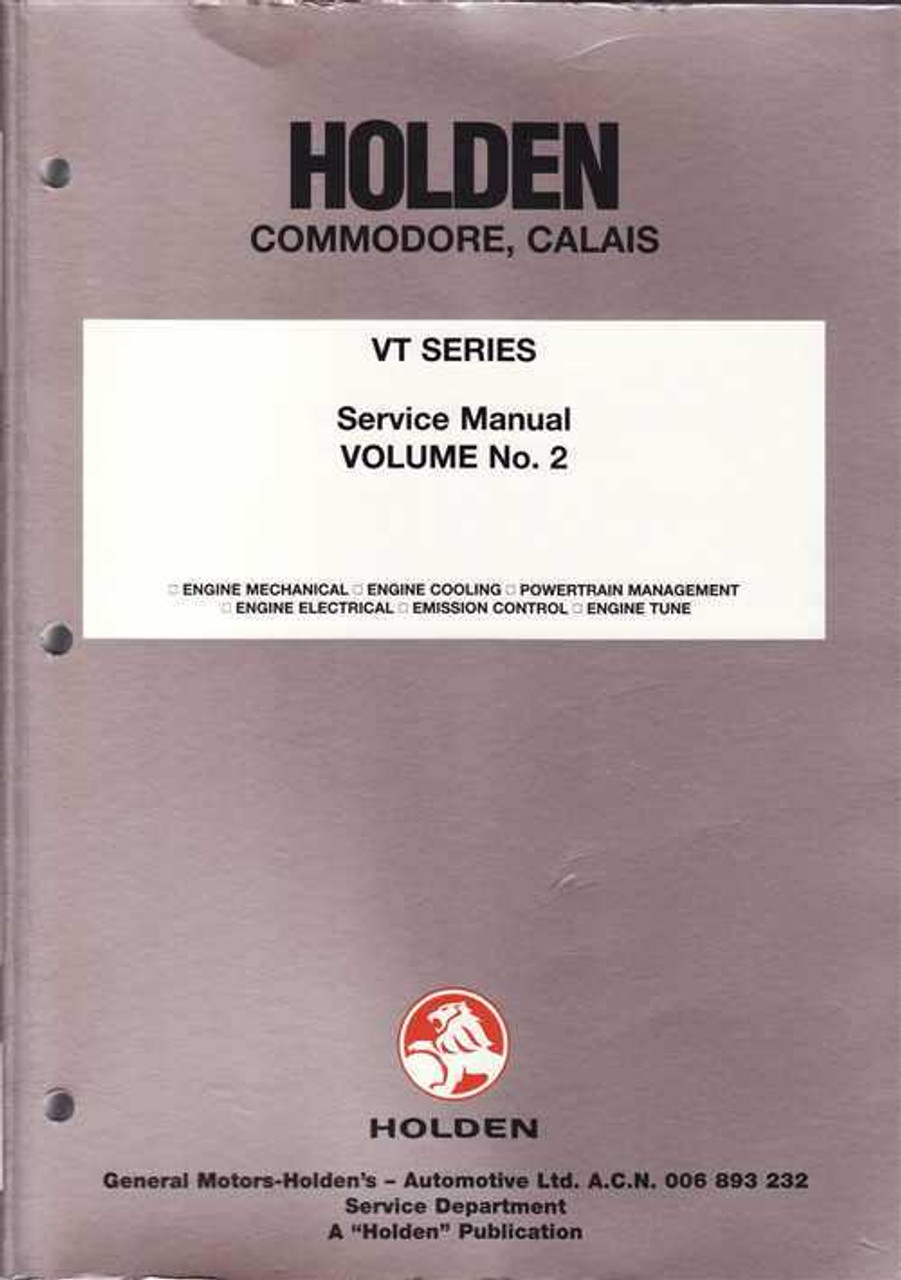 holden commodore calais vt series workshop manual vol 2 rh automotobookshop com au ve commodore service manual ve ss workshop manual pdf