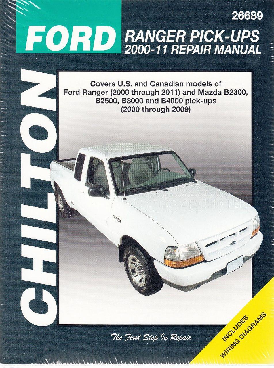 Ford Ranger & Mazda B2300, B2500, B3000, B4000 Pick-Ups 2000 - 2011 Workshop  Manual