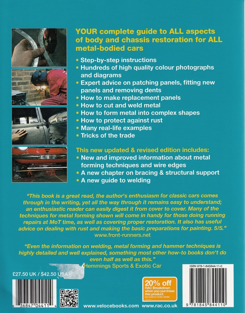 How To Restore Classic Car Bodywork Enthusiasts Restoration Manual Rac Wiring Diagram For Back
