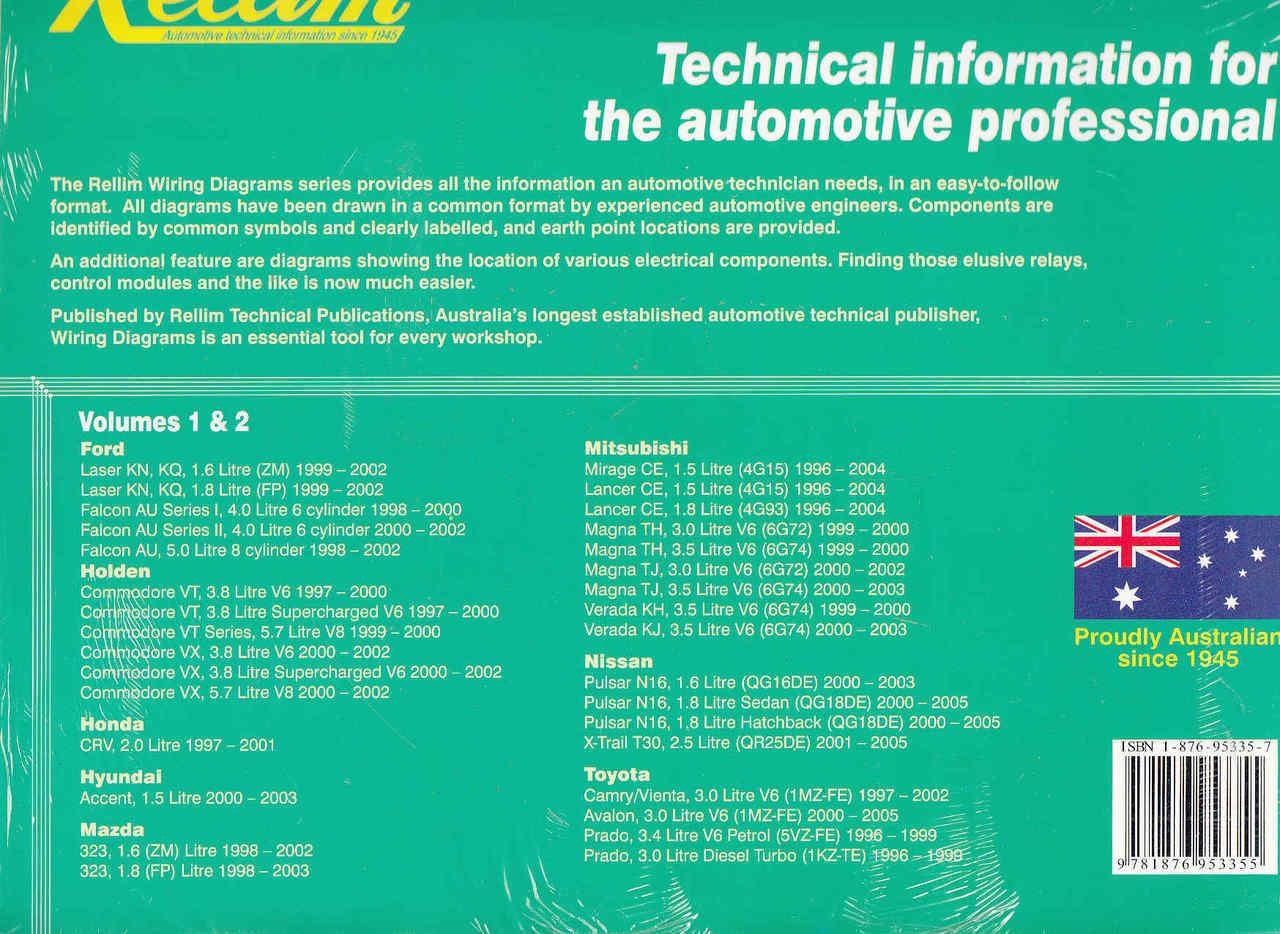 Mitsubishi 6g74 Wiring Diagram Library Pajero Io Rellim Diagrams Volumes 1 2 Back Cover