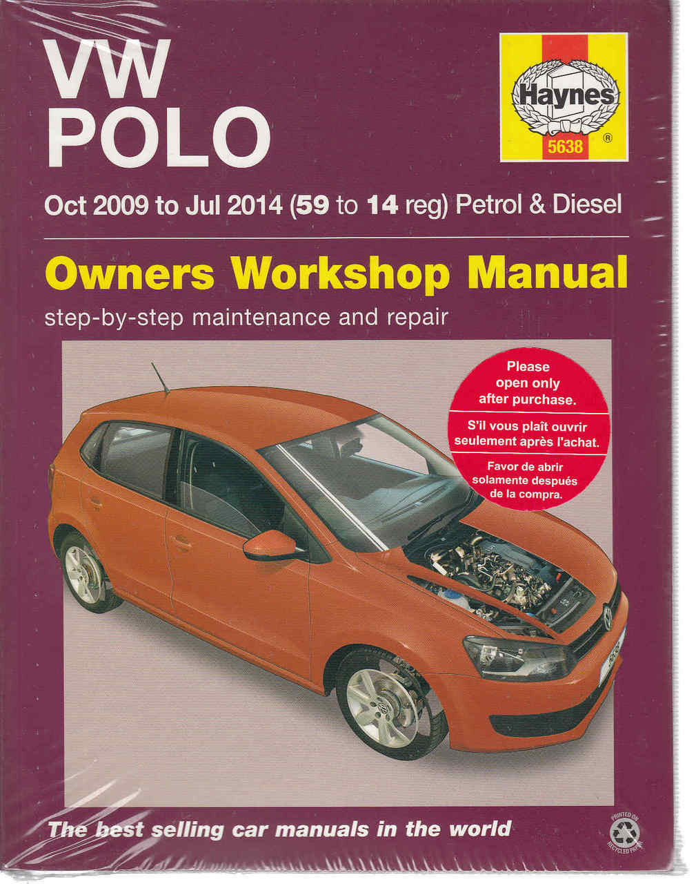 volkswagen polo 2009 2014 petrol diesel owners workshop manual rh automotobookshop com au vw polo workshop manual free vw polo owners workshop manual