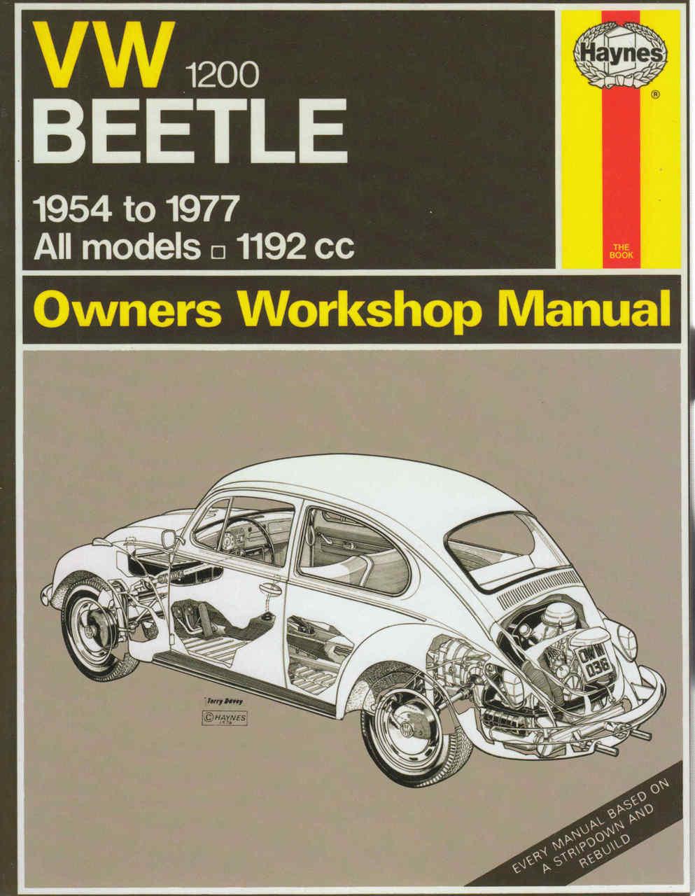 vw beetle 1200 1954 1977 owners workshop manual haynes rh automotobookshop com au 1968 Volkswagen Beetle Review 1976 Beetle