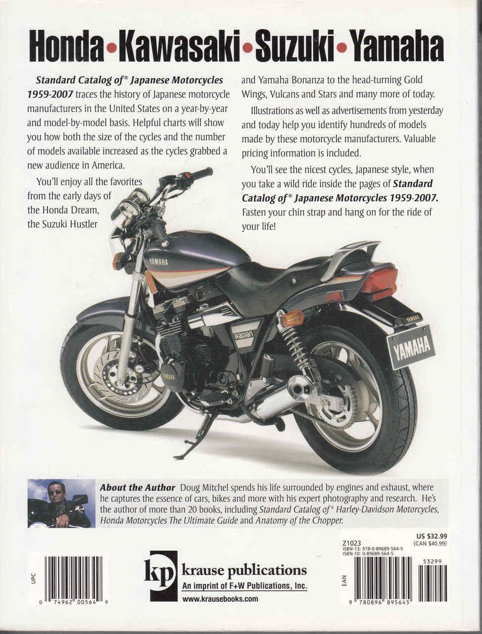 Standard Catalog Of Japanese Motorcycles 1959 - 2007