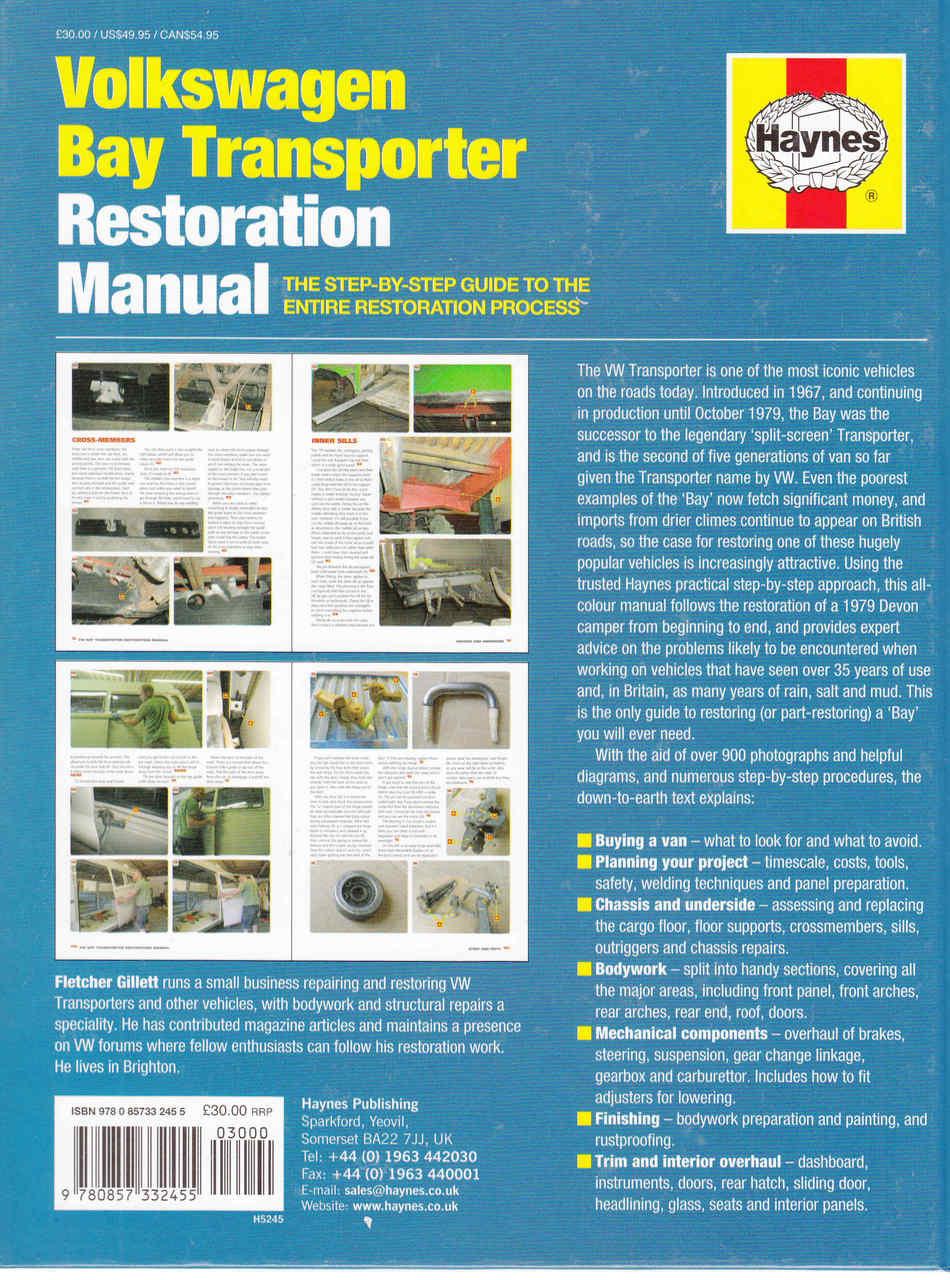 ... Volkswagen Bay Transporter Restoration Manual - back ...