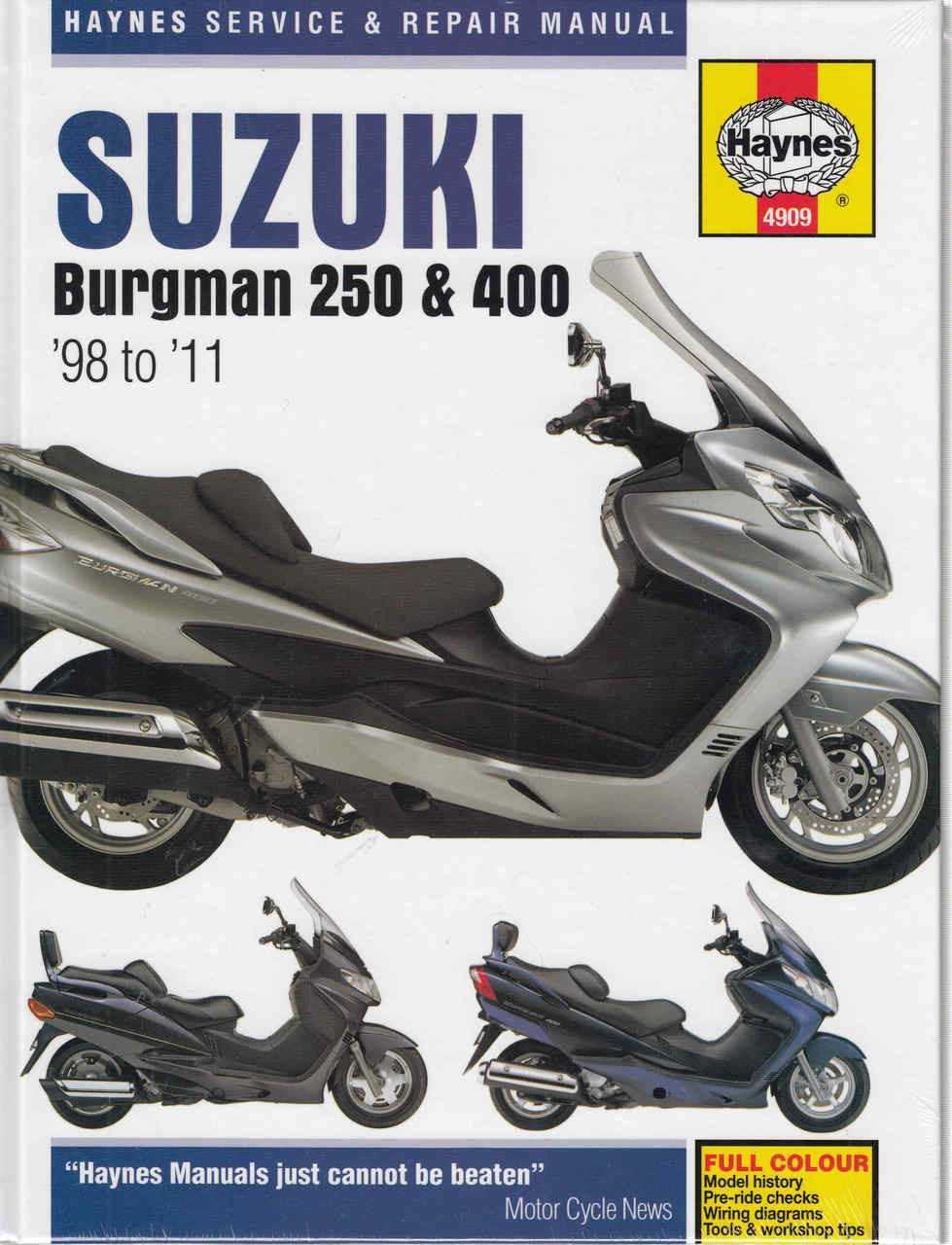 Suzuki Burgman 250 400 98 To 11 Service Repair Manual Dr250 Wiring Diagram