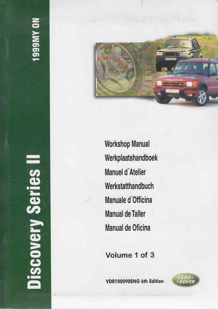 land rover discovery series ii 1999 onwards workshop manual 3 volumes rh automotobookshop com au manual de land rover defender en español manual del conductor land rover discovery