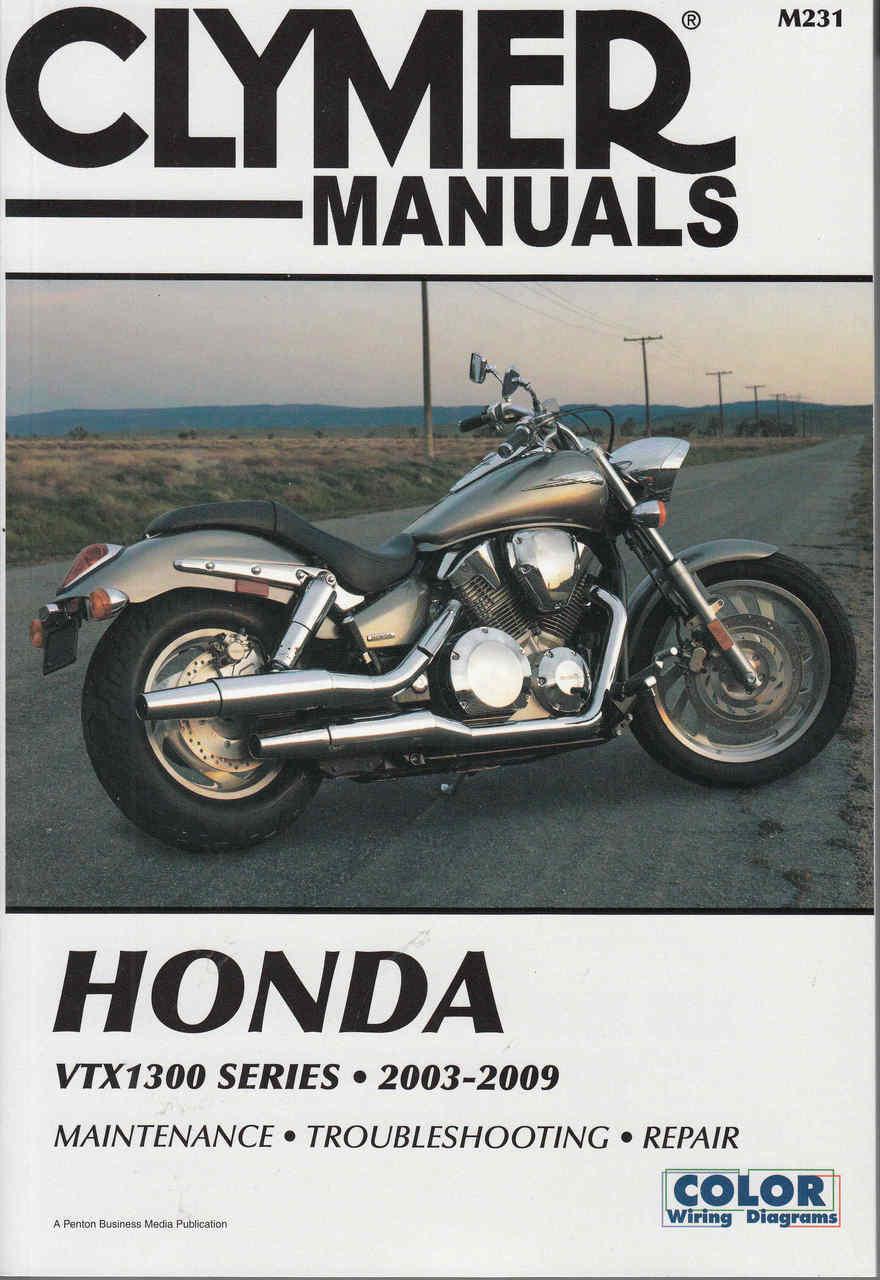 Honda VTX1300 - VTX1300S VTX1300C VTX1300R VTX1300T 2003 - 2009 Workshop  Manual ...