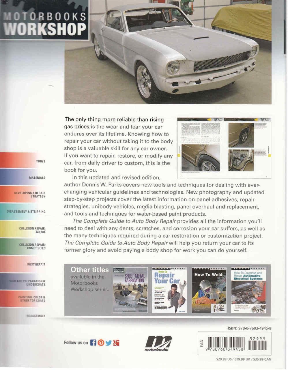 the complete guide to auto body repair 2nd edition rh automotobookshop com au car body repair guide auto body repair instructions