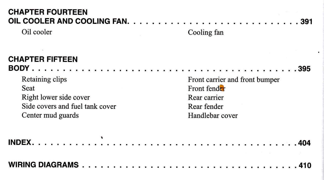 Honda Trx 450 Foreman Atv 1998 2004 Workshop Manual 2002 Wiring Diagram 9780892878963