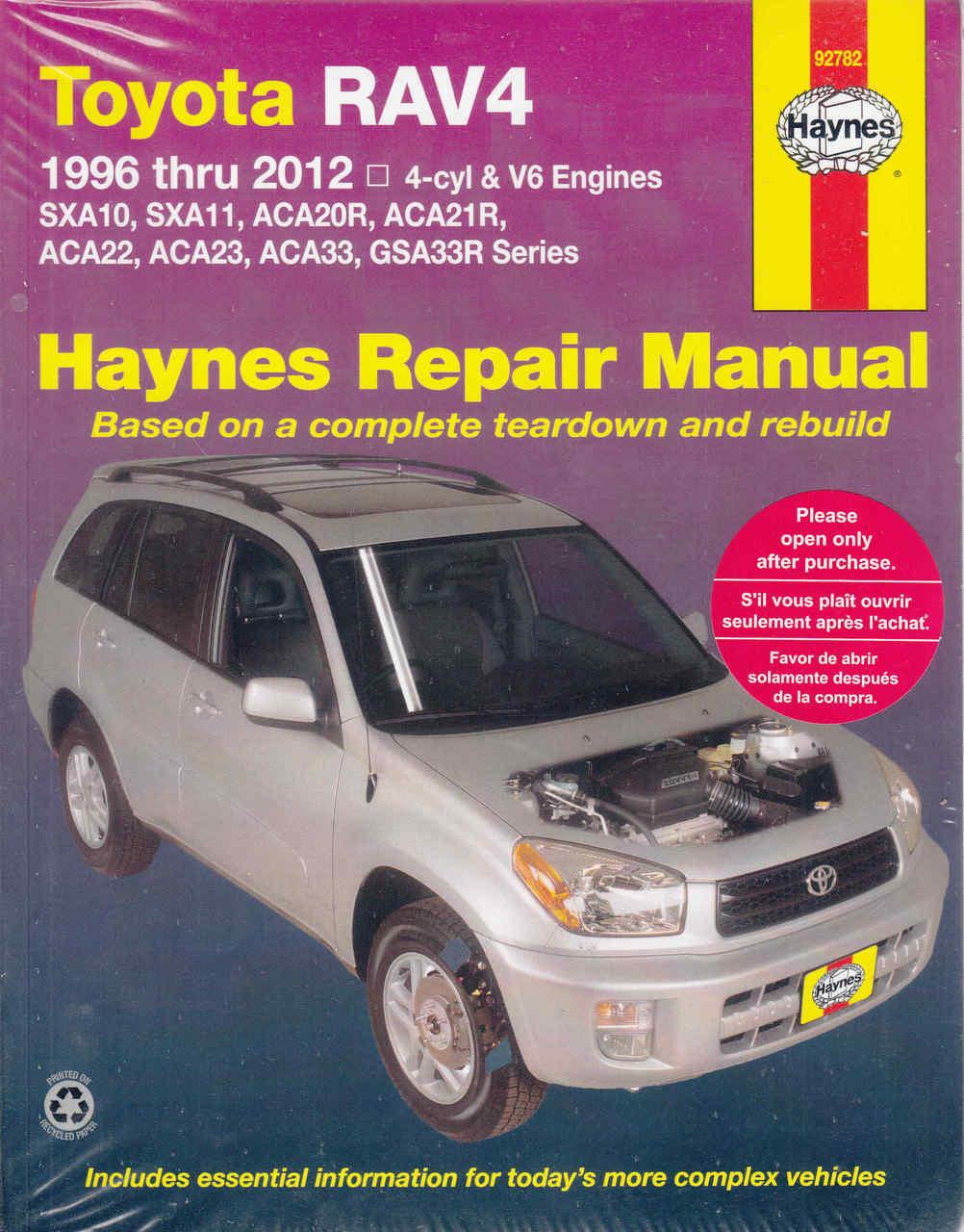 toyota rav4 1996 2012 workshop manual automoto bookshop rh automotobookshop com au BMW Workshop Manual Chamberlain Garage Door Opener Manual
