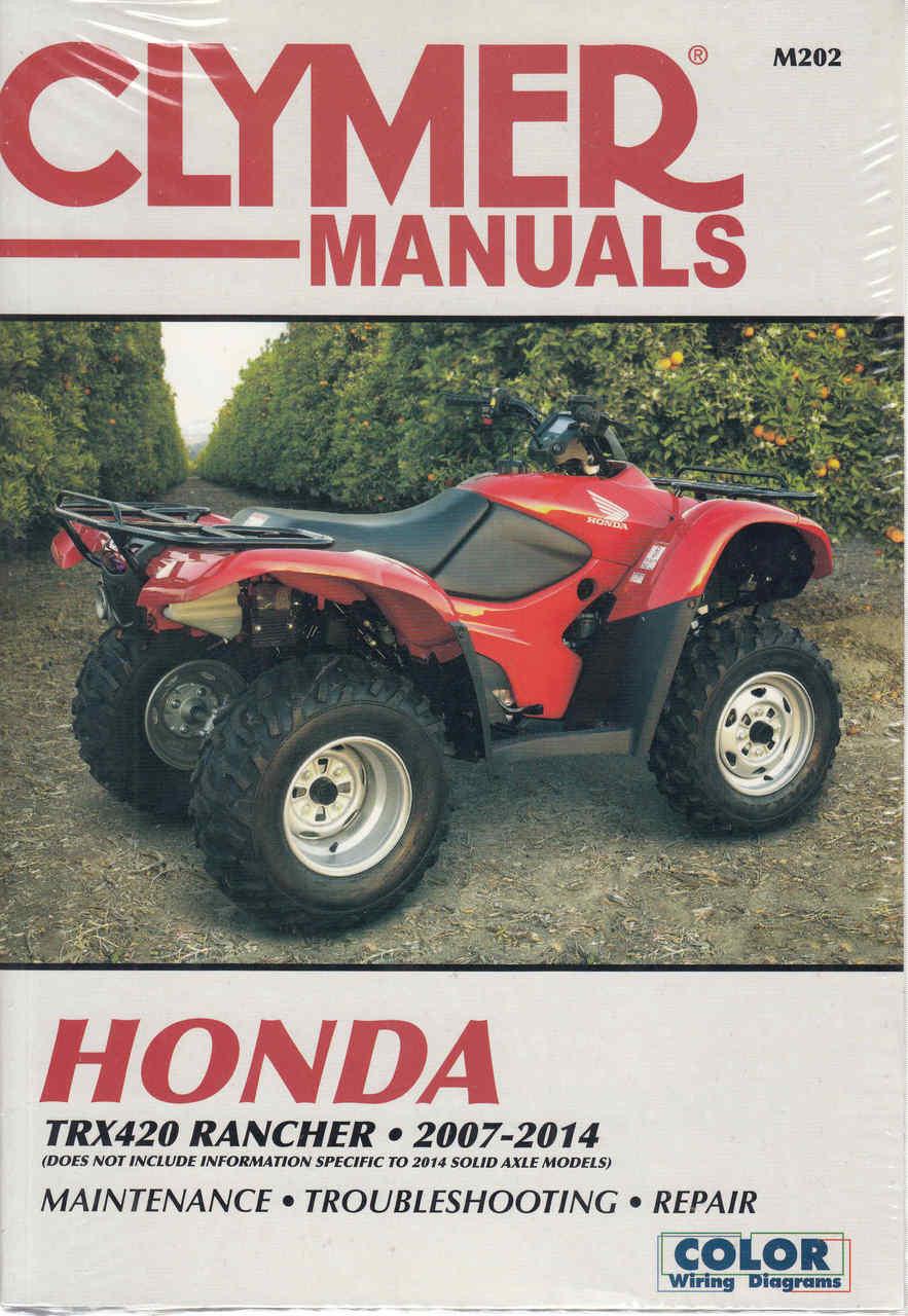honda trx420 rancher atv 2007 2014 workshop manual rh automotobookshop com au Honda TRX250R Honda Recon 250 ATV