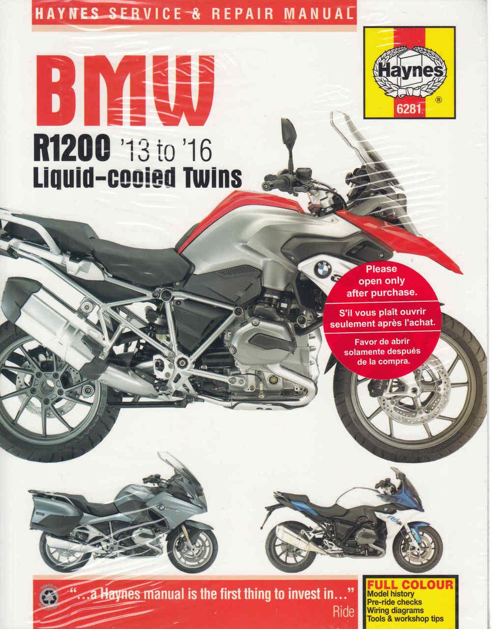 bmw r1200 liquid cooled twins 2013 to 2016 workshop manual rh  automotobookshop com au
