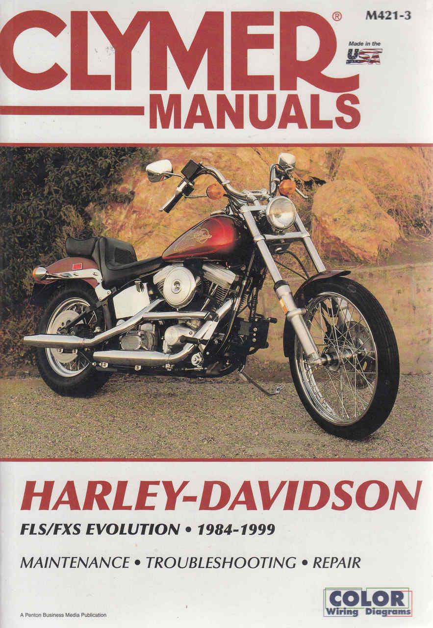Harley Davidson Fls Cxs Evolution 1984 1999 Repair Workshop Manual Fxstc Wiring Diagram