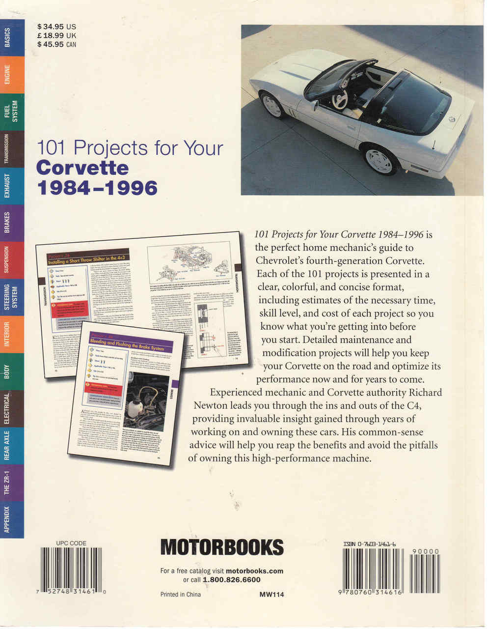 ... 101 Projects For Your Corvette 1984 - 1996 (9780760314616) - back