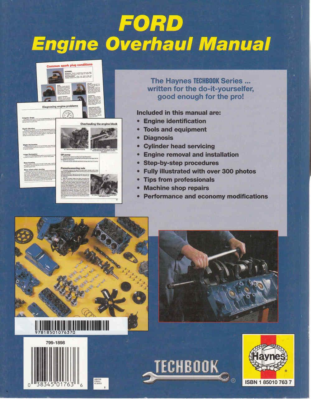 ... Ford Engine Overhaul Manual (Techbook Series) (9781850107637) ...