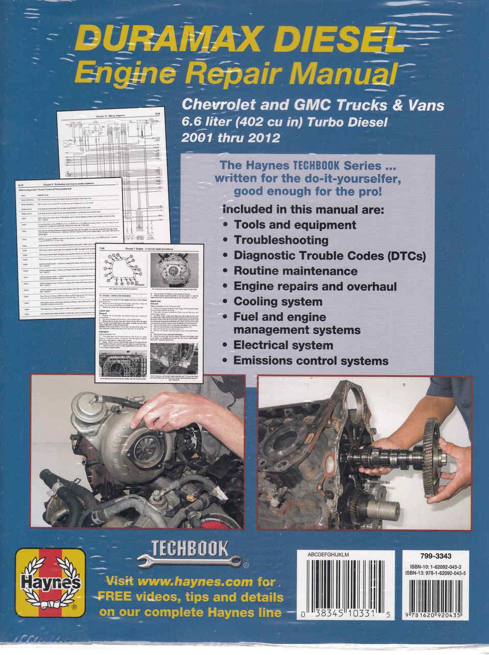 ... Duramax Diesel Engine Repair Manual (Techbook Series) (9781620920435)