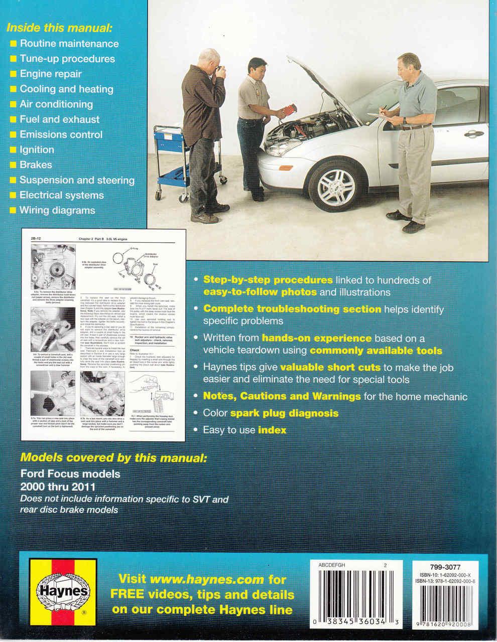 Ford Focus 2000 - 2011 (Petrol ) Workshop Manual