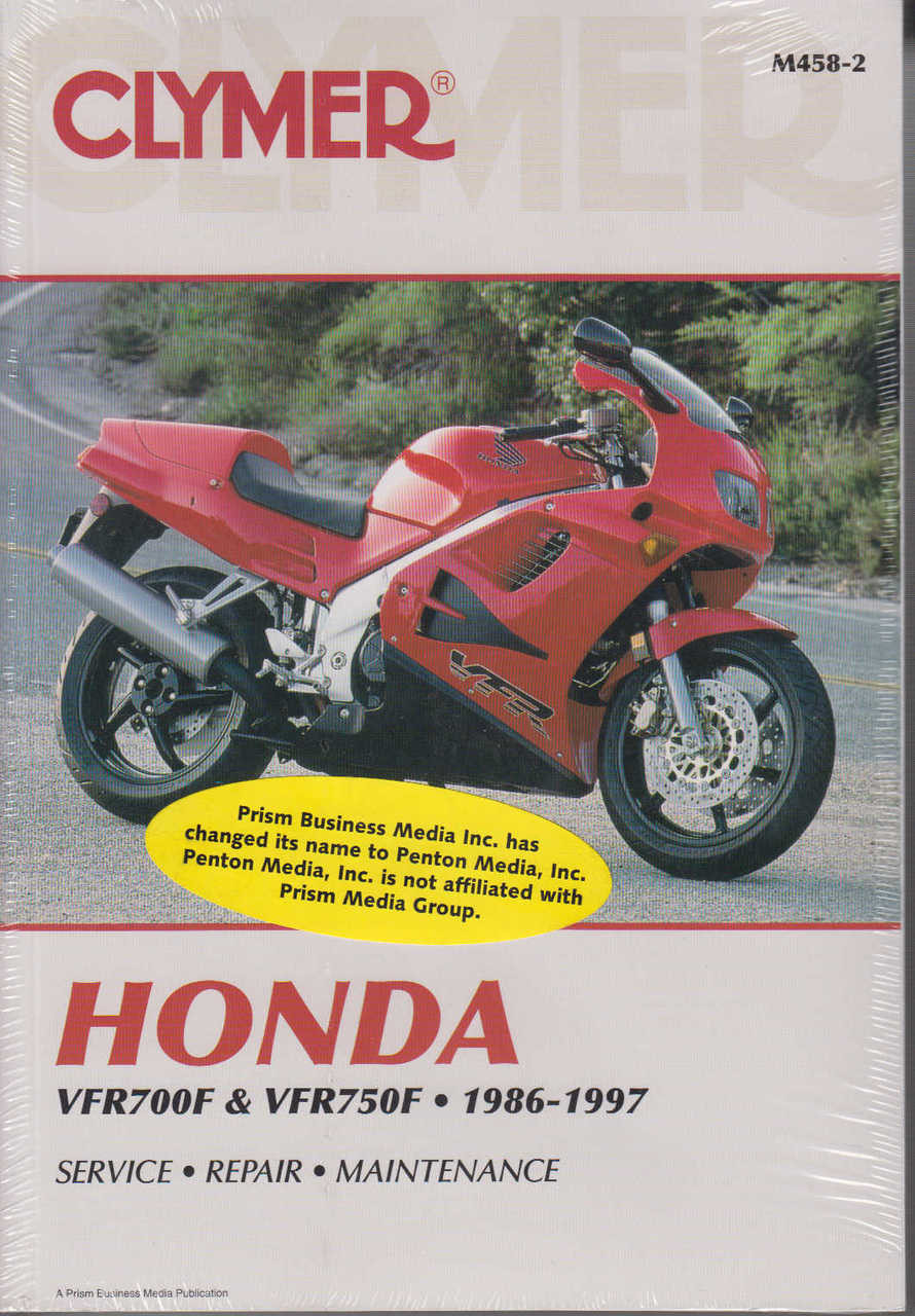 honda vfr700f vfr700f2 vfr750f 1986 1997 workshop manual rh automotobookshop com au VFR 400 Honda Tyga Honda VFR 800F