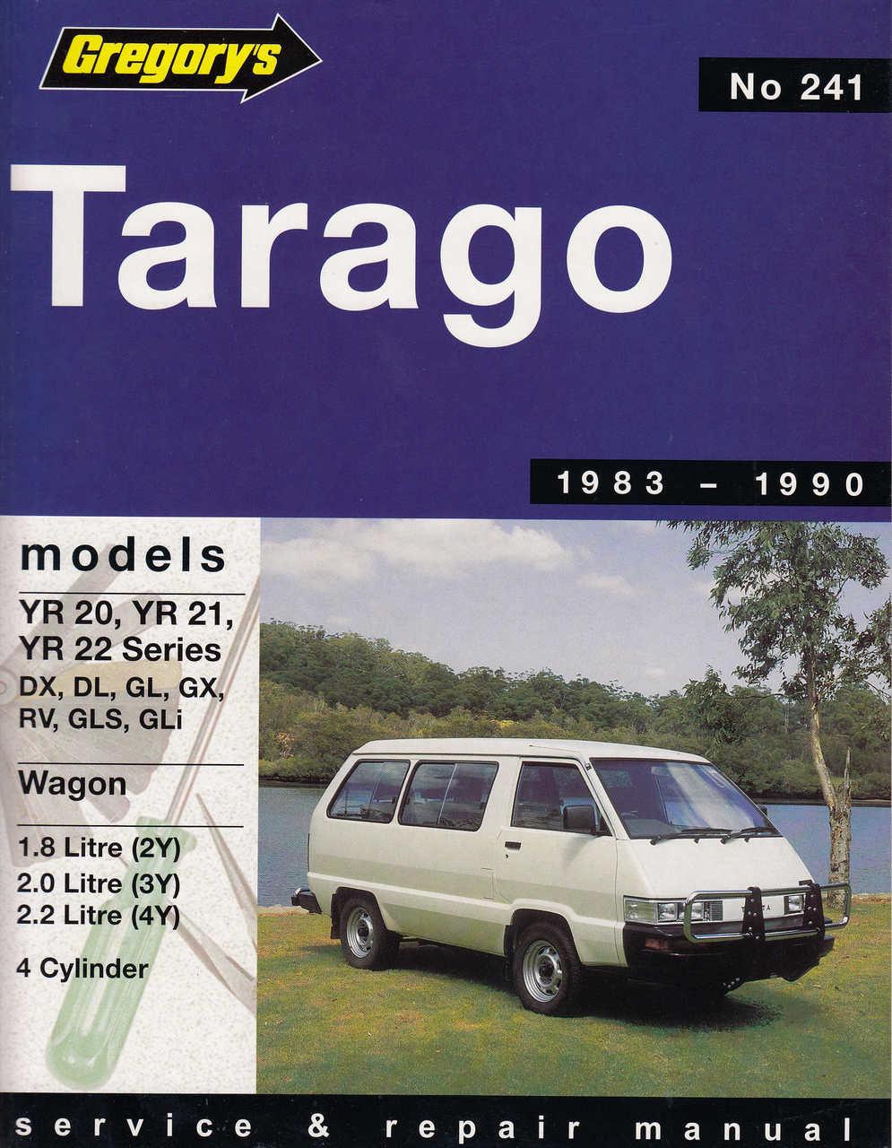 toyota tarago 1 8l 2 0l 2 2 l 4 cylinder 1983 1990 workshop manual rh automotobookshop com au toyota tarago workshop manual toyota tarago manual free pdf
