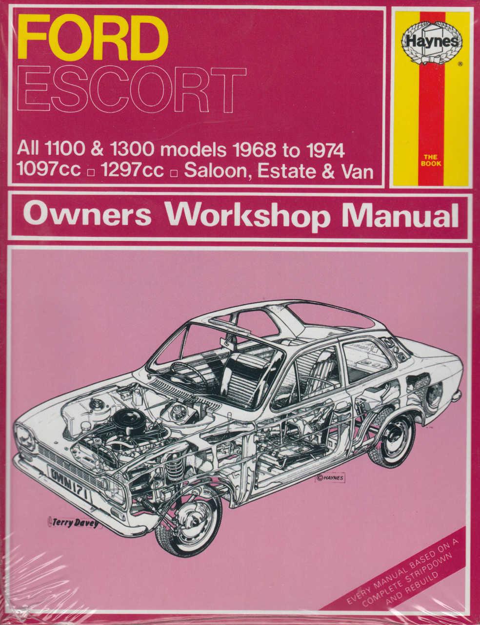 ford escort mk 1 all 1100 1300 models 1968 to 1974 owners workshop rh automotobookshop com au Ford Focus 2013 Ford Escape
