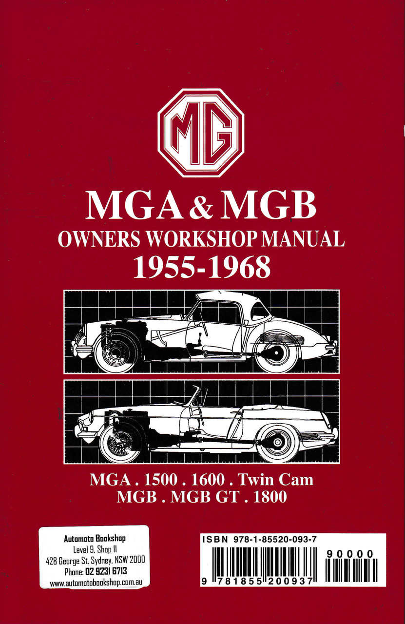 mga mgb owners workshop manual 1955 1968 rh automotobookshop com au Samsung Phone Manuals Verizon Cell Phone Manual