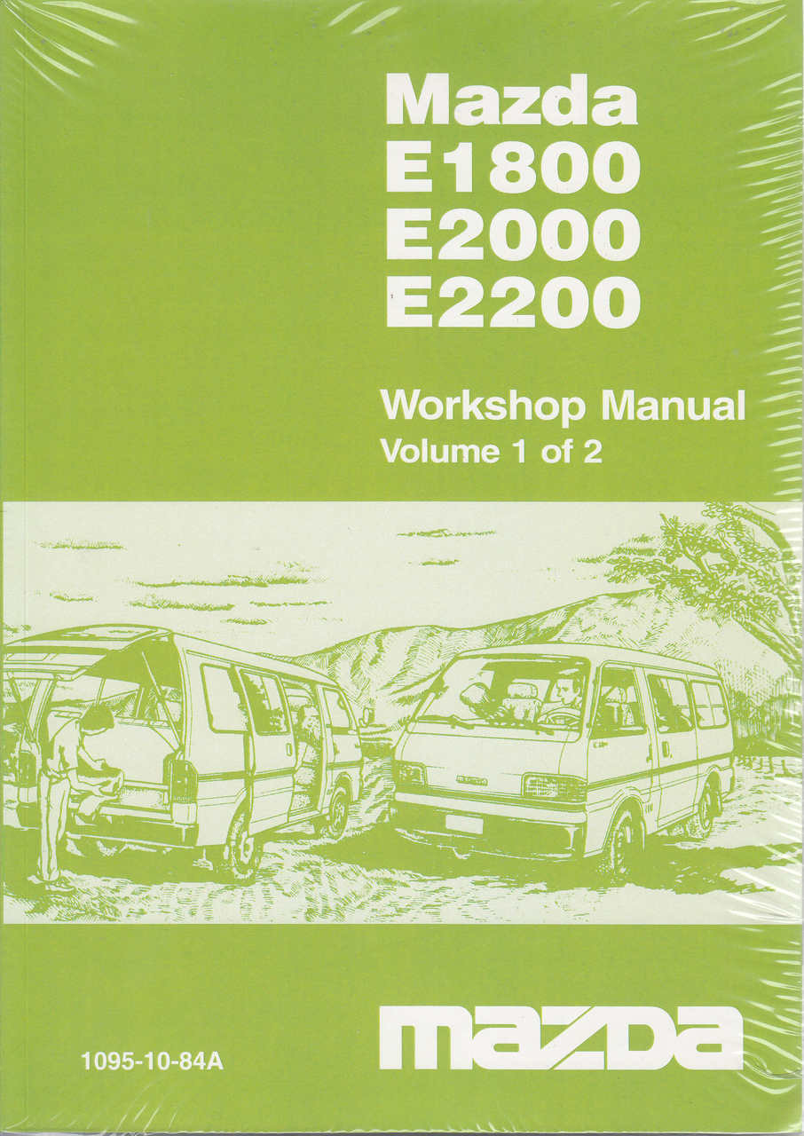 mazda e1800 e2000 e2200 official workshop manual volume 1 and 2 rh automotobookshop com au Mazda Van Suzuki Escudo Manual