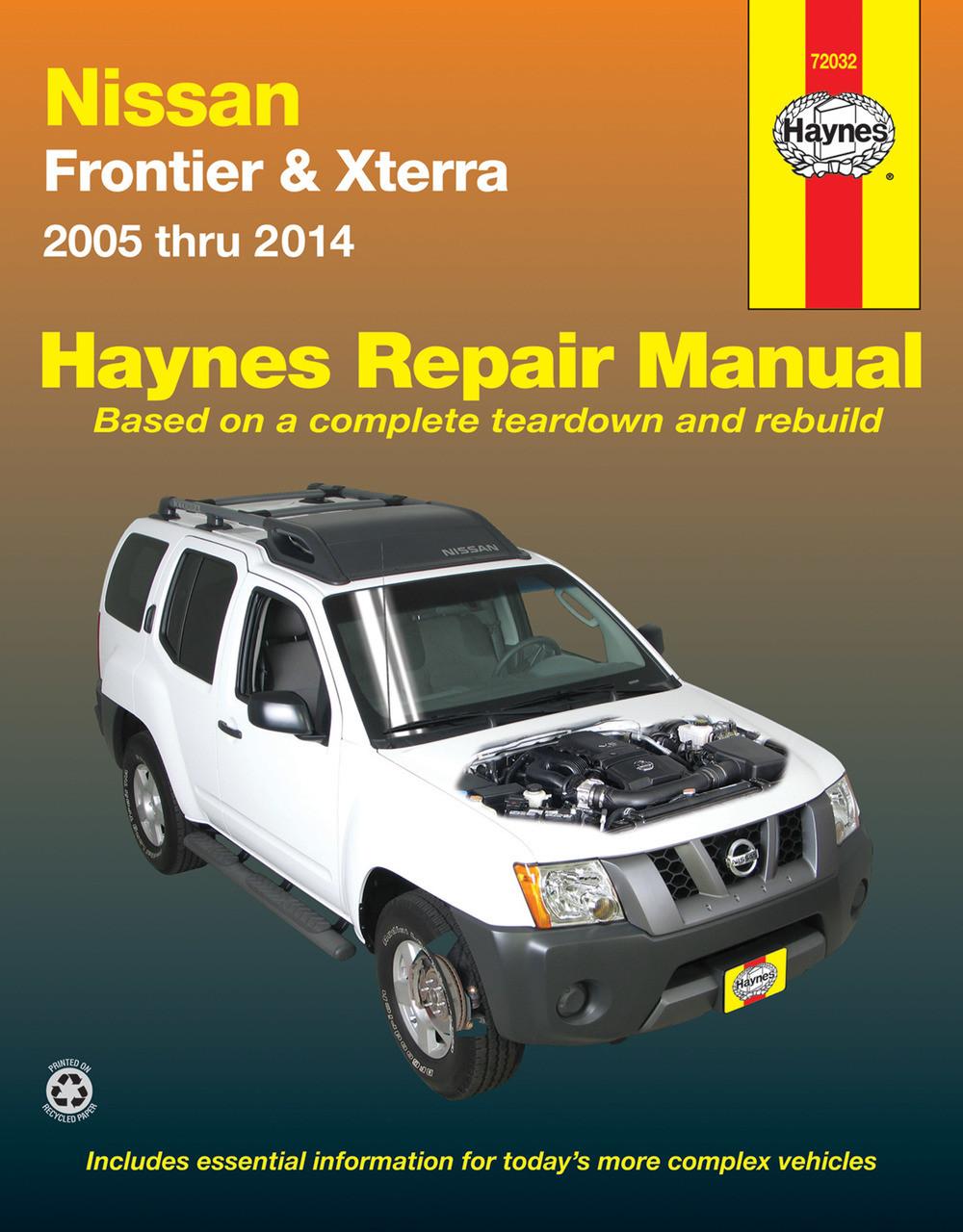 nissan frontier xterra navara d40 pathfinder r51 2005 2014 for rh automotobookshop com au Nissan Repair Guide 2001 Nissan Frontier Repair Manual