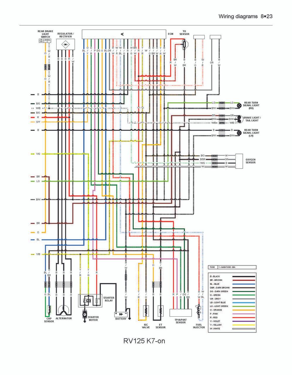 Wiring Diagram Of Suzuki X4 Motorcycle